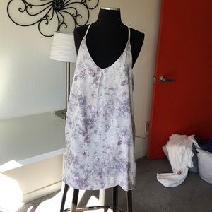 Strappy racer back mini dress or top